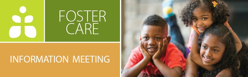 Foster Care Information Meeting  May 23rd banner