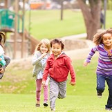 Adopted children running to maintain physical health.