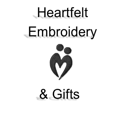 Heartfelt Embroidery & Gifts Logo